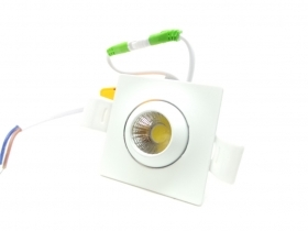 Mini faretto led Quadrato 3W Cob faro led controsoffitto driver incluso i1-3w